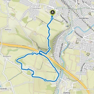 Silvesterwanderung Route Hundesport Pillnitz